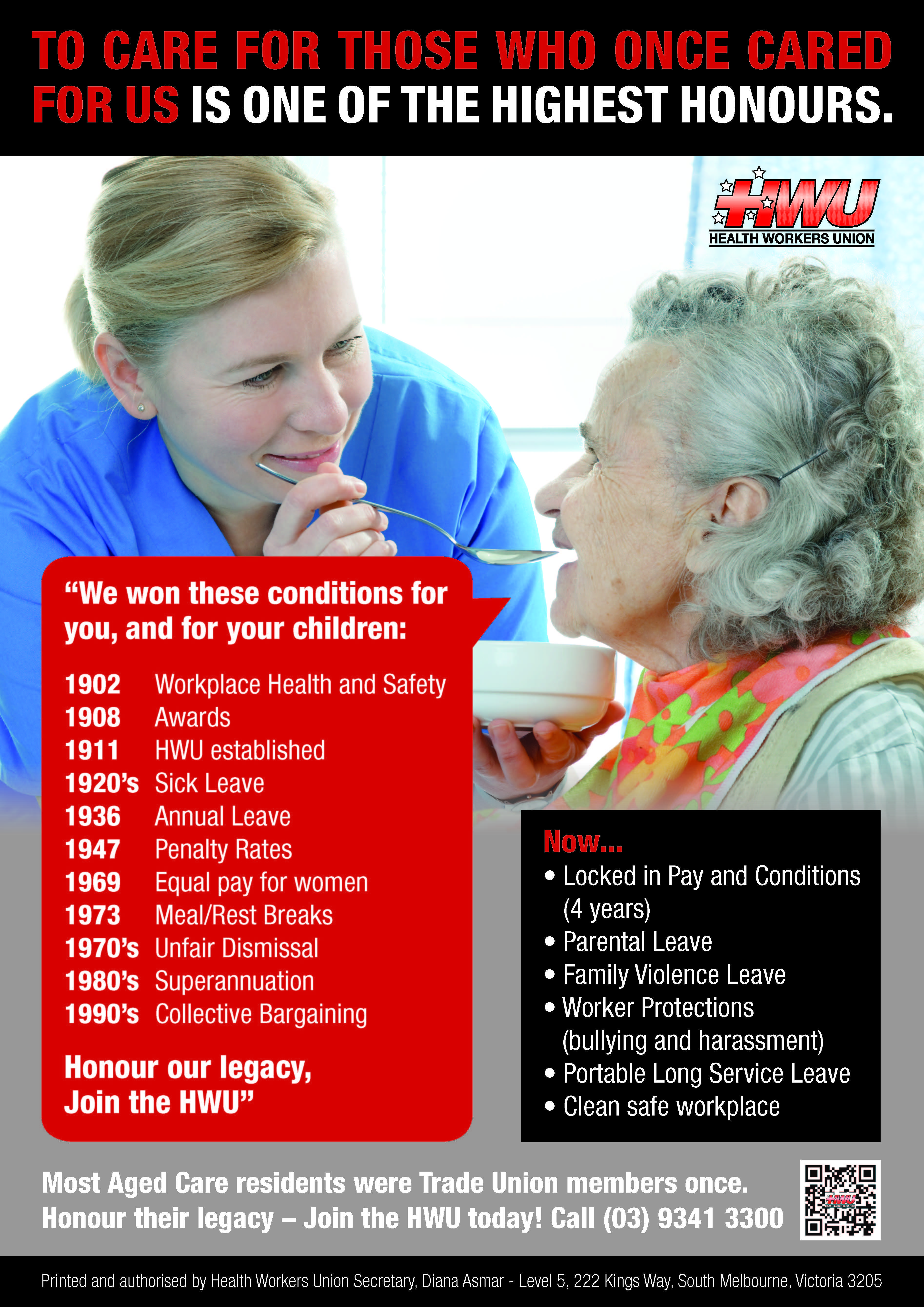 Aged Care Campaign Poster