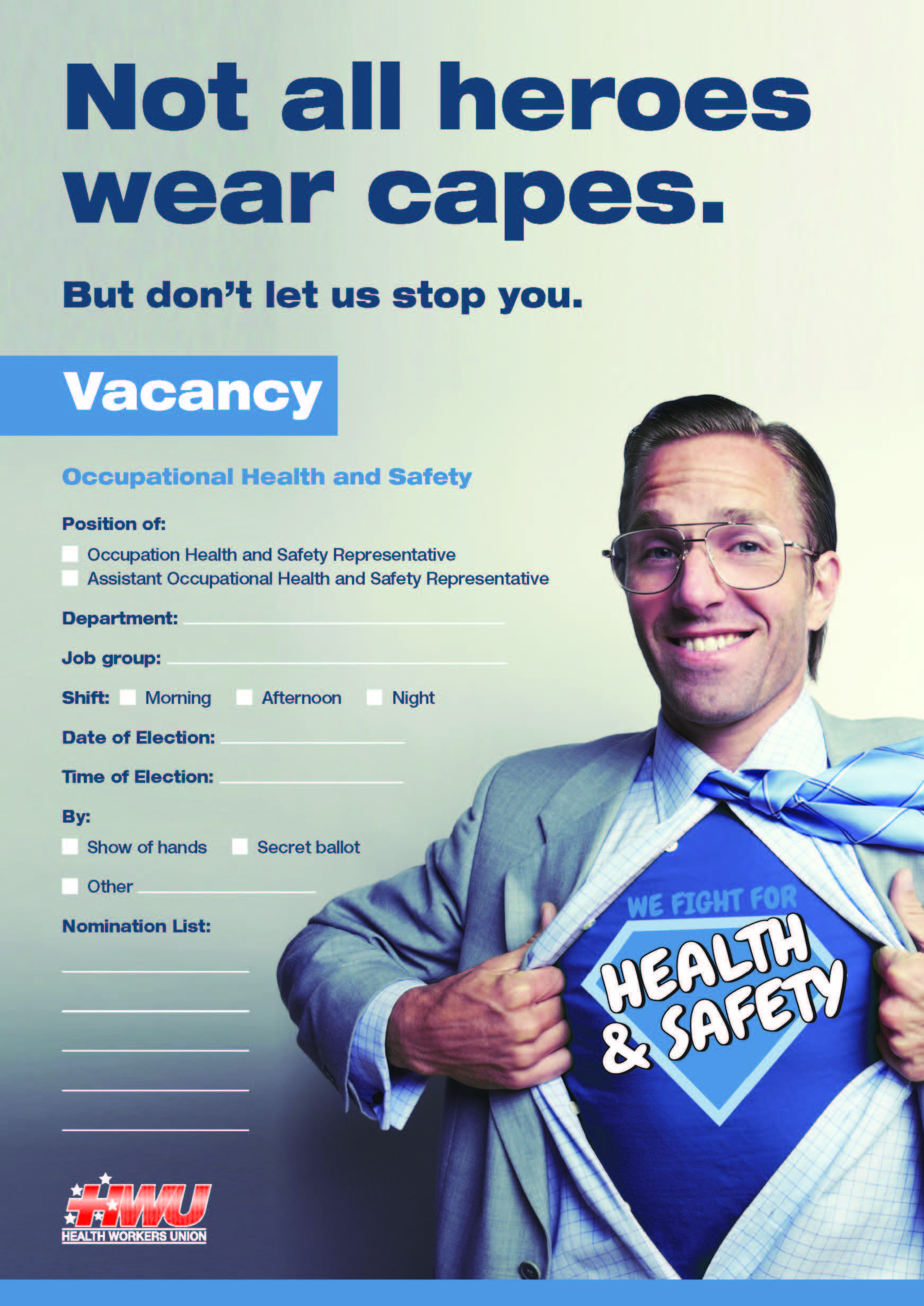HWU Occupational Health + Safety Rep Election Nomination Form