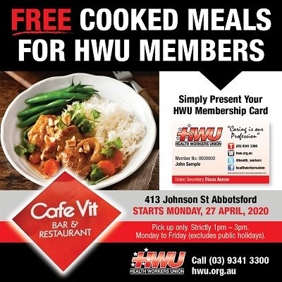 Free Cooked Meals for HWU Members